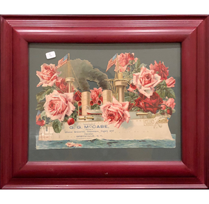 Framed Die Cut Advertisement