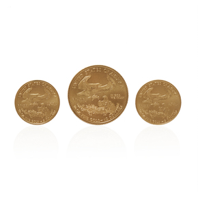 1/4 Dollar American Eagle Gold Coin and Two 1/10 Dollar Coins