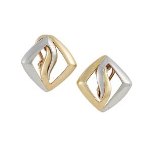 18k Gold / Platinum Earrings