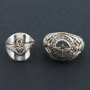 Sterling Silver Air Force Rings