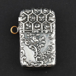 19th Century Gorham Repoussé Sterling Silver Match Safe