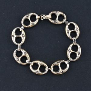 Embossed Anchor Link 800 Silver Bracelet