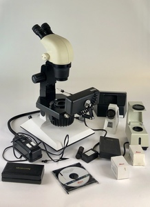 Leica S6E Microscope by Kassoy with Additional Instruments and Accoutrements