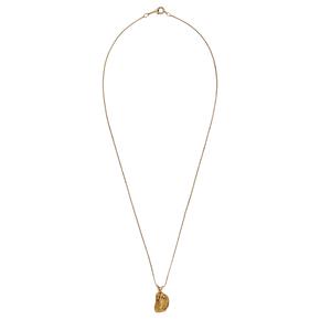 Gold Nugget Pendant & 14k Chain
