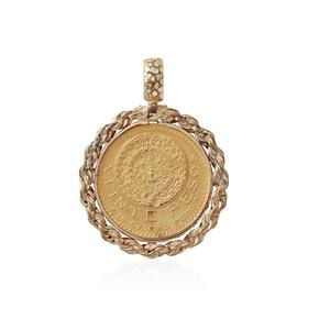 1917 Twenty Pesos Mexican Gold Coin Pendant