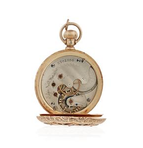 Diamond Tri-Color 14k  Elgin Pocket Watch
