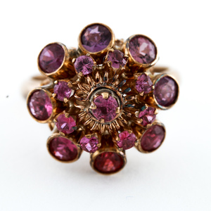 Antique 14K Yellow Gold Pink Spinel Ring