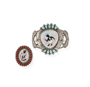 Southwest Zuni Cuff and Ring