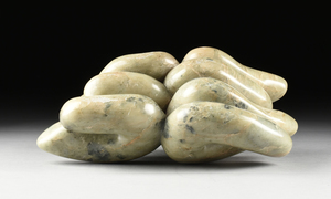 ENGLISH SCHOOL (20th Century) A MODERNIST ABSTRACT STONE,