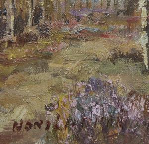 Landscape Painting with Figure, attrib. Hans Lenteman