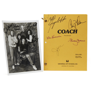 Autographed Script and Photograph from