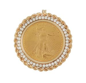 1927 St Gaudens Gold Coin Pendant