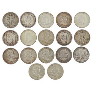 17 Silver Half Dollars