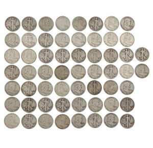 39 pre 1964 Sliver Half Dollars
