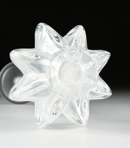 A LALIQUE FROSTED CRYSTAL VASE, CLAUDE PATTERN, ENGRAVED SIGNATURE, NO 12273, 20TH CENTURY,