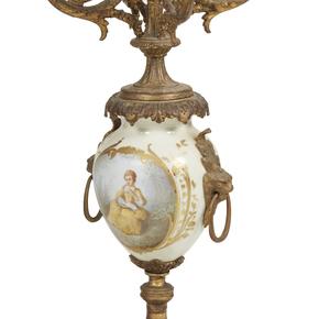 3-Piece Victorian Clock Garniture