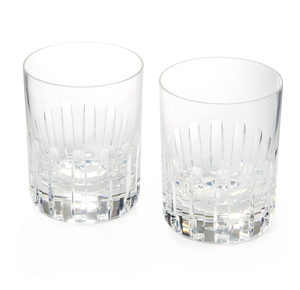 Two Baccarat Double Old Fashioned Glasses