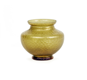 Small Yellow Vase Attrib. to Loetz
