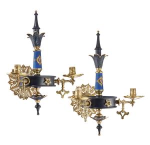 Renaissance Revival Gas Sconces