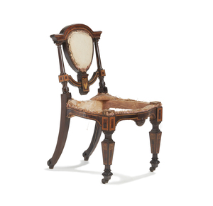 Rosewood Occasional Chair, attributed to Herter Brothers