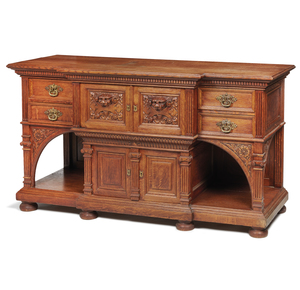 Oak Aesthetic Movement Server, attributed to Herter Brothers