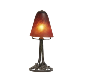 Schneider Art Glass Boudoir Lamp