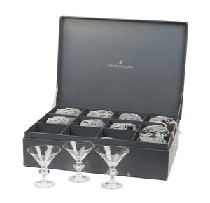 12 Steuben Martini Glasses