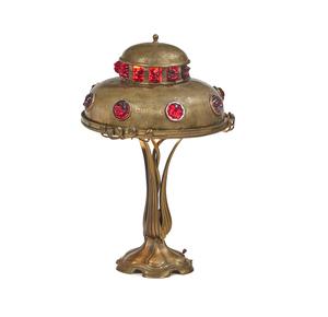 Hermann Eichberg Jugendstil Lamp