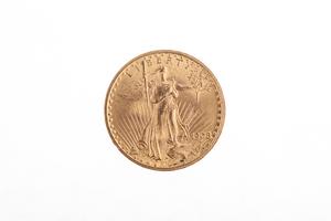 1908 Gold $20 Saint Gaudens Coin BU