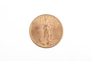 1925 Gold $20 Saint Gaudens Coin BU