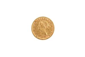 1880 Gold $10 Liberty Coin. BU