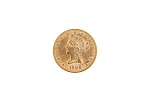 1898 Gold $10 Liberty Coin BU