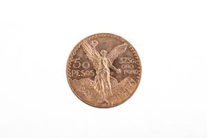 Mexican 50 Pesos Gold Coin AU
