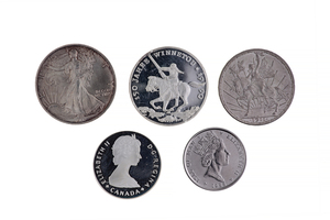 Assorted Silver & Platinum Coins