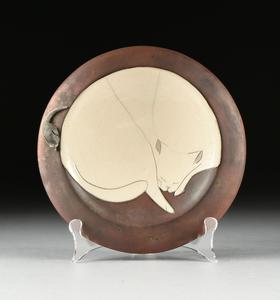 TOM AND NANCY GUISTI (American 20th Century) TWO RAKU ART POTTERY,