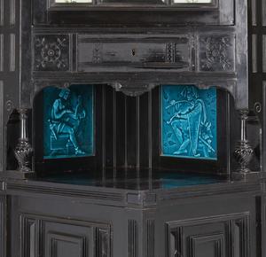 Kimbel & Cabus Labeled Corner Cabinet