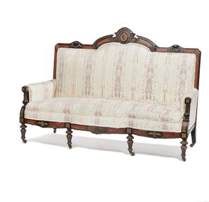 American Renaissance Ebonized Ormolu Mounted Sofa