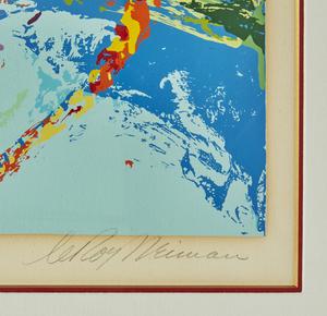 "Leroy Neiman (1921-2012) Serigraph, ""Kenya Leopard"""