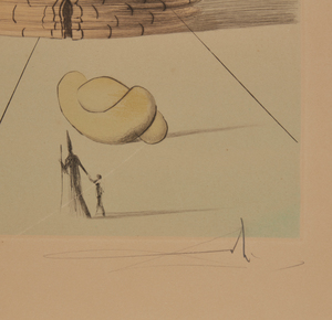 """After Salvador Dali, Etching in Color,  """"Simeon"""""""