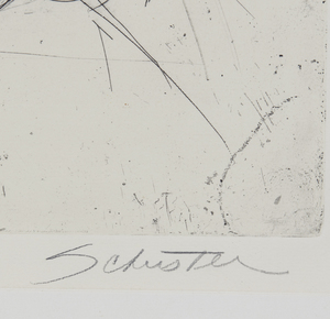 Sylvia Schuster (20th/21st century) Etching,