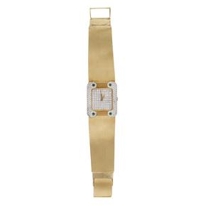 Lady's 18k Diamond and Emerald Watch