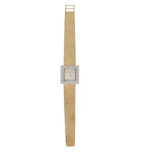 Lady's Chopard 18k Gold and Diamond Watch