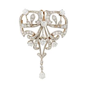 18k  Diamond Brooch/Pendant