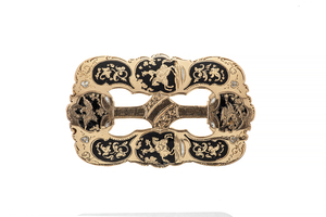 19th Century California Gold and Enamel Buckle