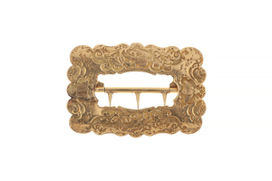 19th Century California Gold and Engraved Buckle