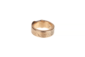 Victorian Mourning Hair Ring, 7 grams