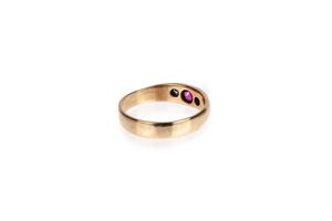 Men's 14k Gold, Diamond and Ruby Ring, 5 grams