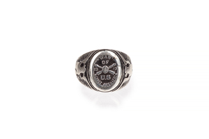 War of US 1917 Coast Artillery Silver Ring, 9 grams