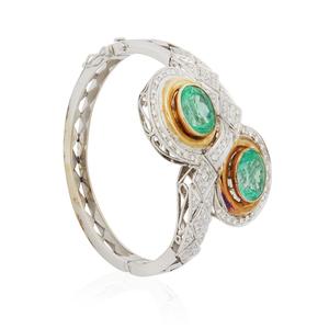 18k Emerald Diamond Bracelet