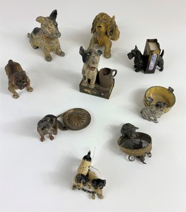 Collection of Dog and Cat Figural Groups